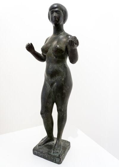 Karl-Heinz Krause, 'Mädchen mit Apfel', 1952