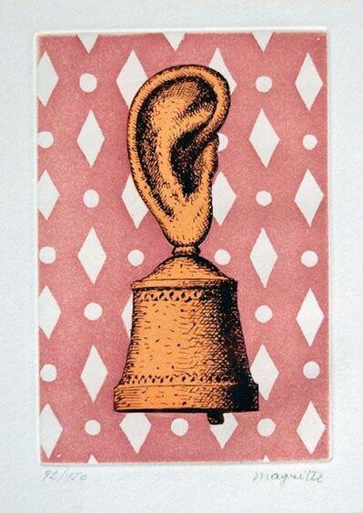 René Magritte, 'La Lecon de Musique - Son de Cloche', 1968