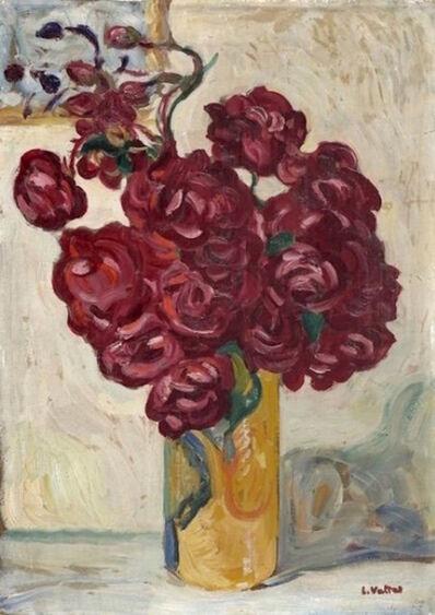 Louis Valtat, 'Vase de fleurs rouges sur fond jaune', Unknown