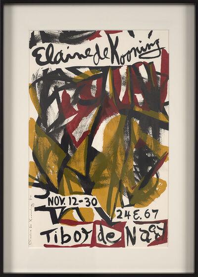 Elaine de Kooning, 'Untitled (Poster for Tibor de Nagy)', 1957