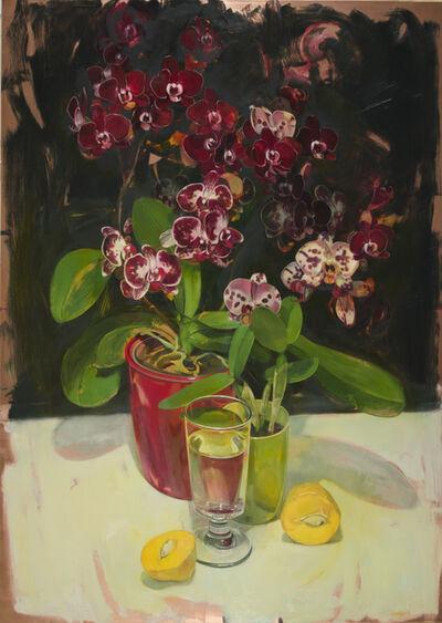 Benjamin J. Shamback, 'Violet Orchids and Cut Mango', 2015