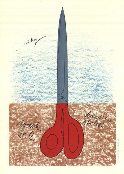 """Claes Oldenburg, 'Claes Oldenburg - Scissors as Monument (No text) - 1968 Lithograph 33"""" x 23.25""""', 1968"""