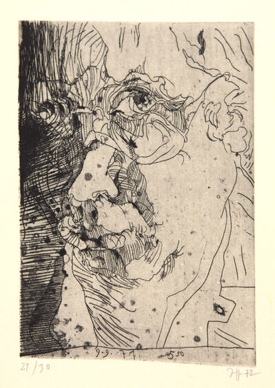 Horst Janssen, 'Selbsbildnis (9.9.71 5.30)', 1971