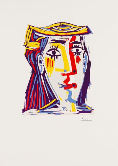 Pablo Picasso, 'Portrait de Jacqueline au chapeau de paille multicolore', January 17-1962
