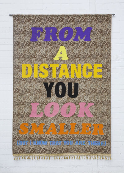 John Isaacs, 'From a distance you look smaller...but I know that you are there,', 2009