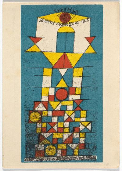 Paul Klee, 'Bauhaus Postcard', 1923