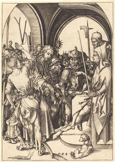 Martin Schongauer, 'Christ before Annas', ca. 1480