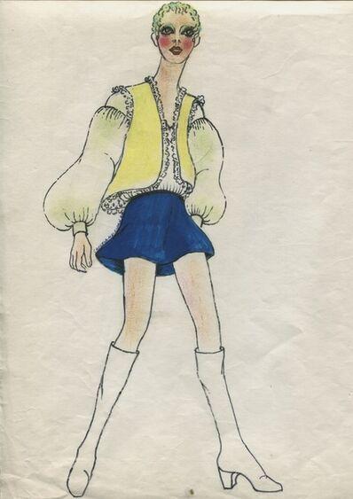 Delia Cancela, 'Chica rubia, botas blancas', 1967