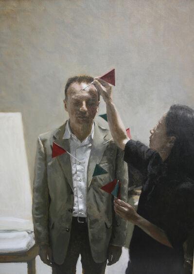 Rafel Bestard, 'Mujer y hombre con banderillas ', 2016