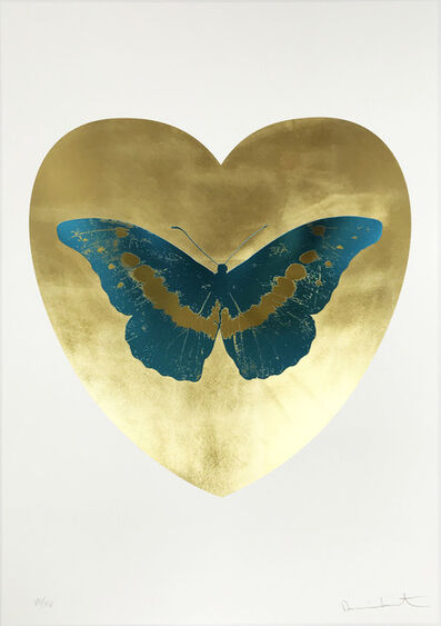 Damien Hirst, 'I Love You - Gold Leaf/Turquoise/Oriental Gold', 2015