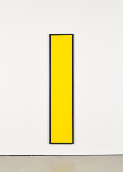 Ian Wallace, 'Untitled (Yellow Monochrome with Black)', 1967-2008