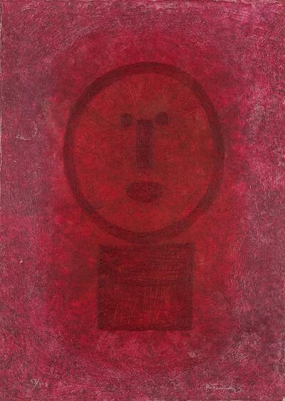 Rufino Tamayo, 'Cara en Rojo', 1977