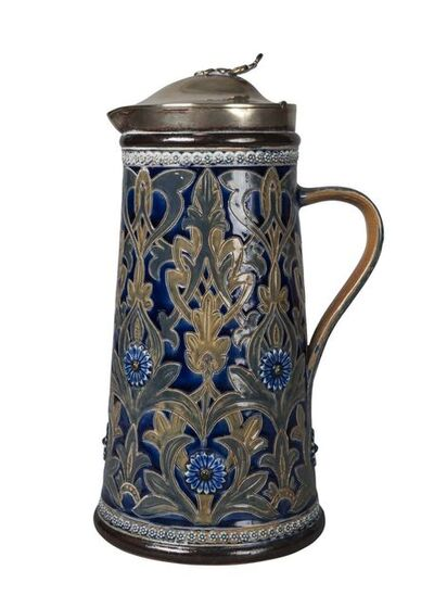 Doulton Lambeth, 'a stoneware jug by Edith Lupton', Dated 1879