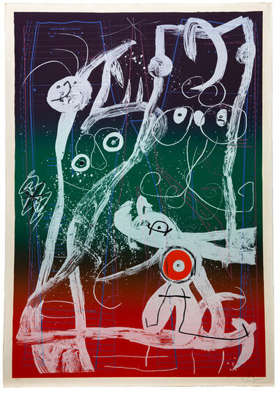 Joan Miró, 'Le Delire Du Couterier - bleu, rouge, vert', 1969