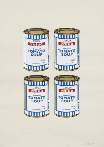 Banksy, 'Four Soup Cans (Cream)', 2006