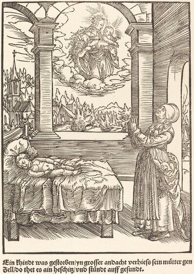 Master of the Miracles of Mariazell, 'Ein Khindt was gestorben ...', ca. 1503