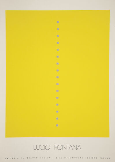 Lucio Fontana, 'Manifesto for show at Galleria il Quadro', 1970