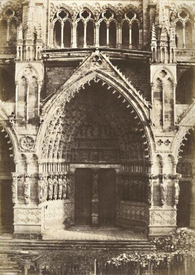 Charles Marville, 'Portal Principal de la Cathedrale d'Amiens', 1853/1853