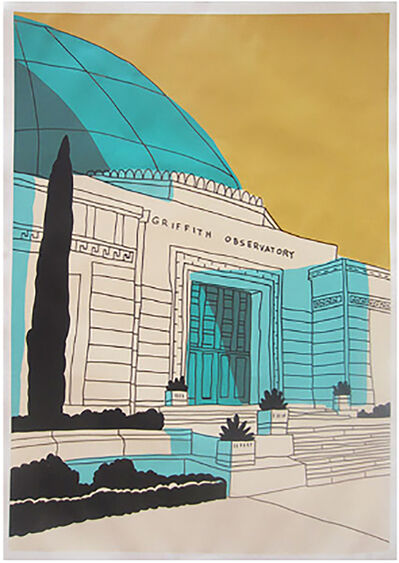 Marz Junior, 'Griffith Observatory-Yellow Vertical ', 2019