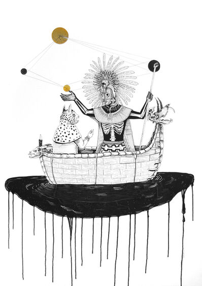 Saner, 'Manitú abriendo las puertas del Universo', 2014