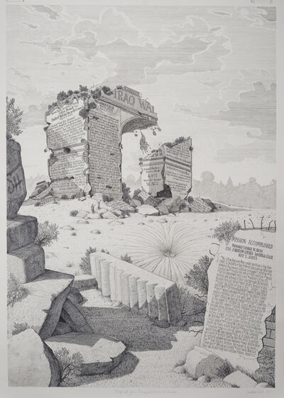 Sandow Birk, 'Proposal for a Triumphal Arch and Garden', 2015
