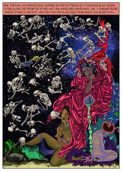 Chitra Ganesh, 'Melancholia: Red Death', 2011