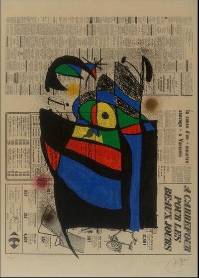 Joan Miró, 'Le Journal', 1975