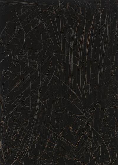 Imi Knoebel, 'Schwarzes Bild Nr. 23', 1990
