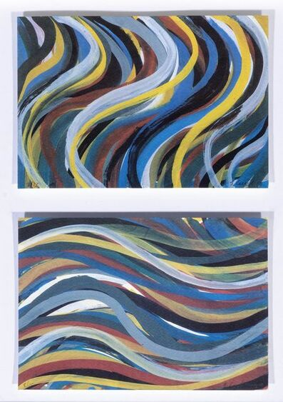Sol LeWitt, '2 sheets: Brushstrokes: Horizontal and Vertical 02/03', 1996