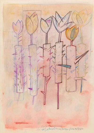 Carlos Quintana, 'Flores Azules', 1990