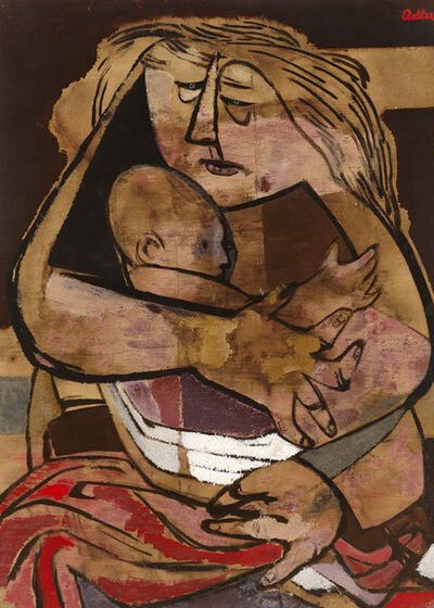 Jankel Adler, 'Mother and Child', ca. 1941
