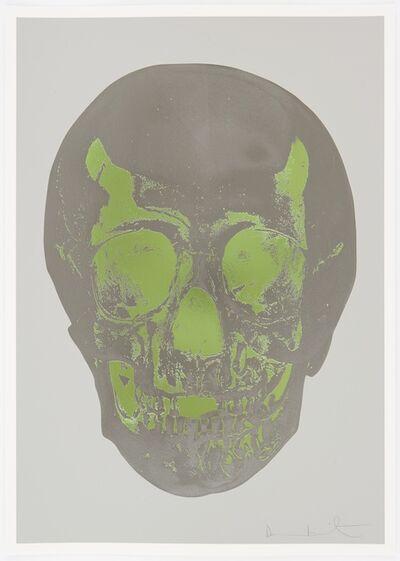 Damien Hirst, 'Dove Grey Gunmetal Leaf Green Skull ', 2012