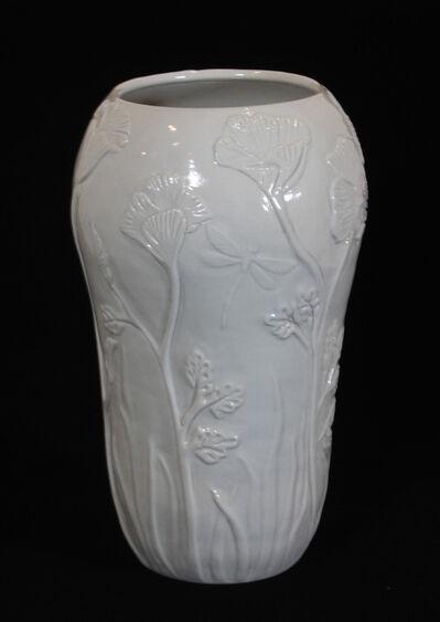 Carol Berger, 'Poppy Field- Porcelain, White, Decor', 2021
