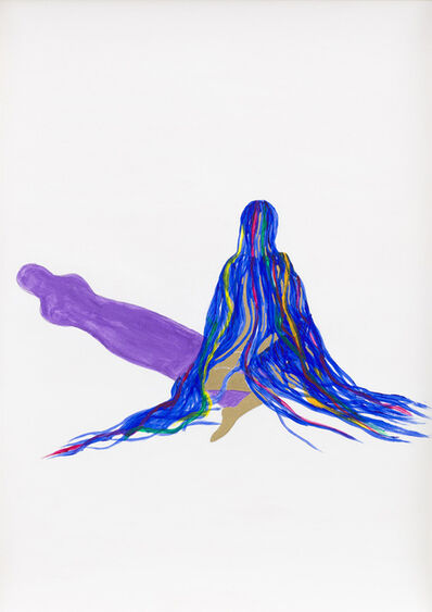 Grace Schwindt, 'Blue Ribbons and Purple Shadow', 2013