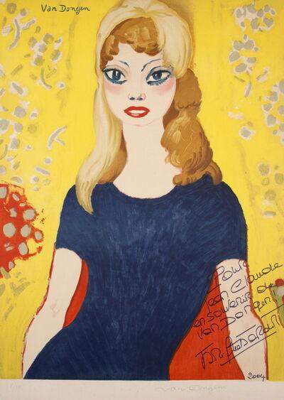 Kees van Dongen, 'Brigitte Bardot XL', 1964