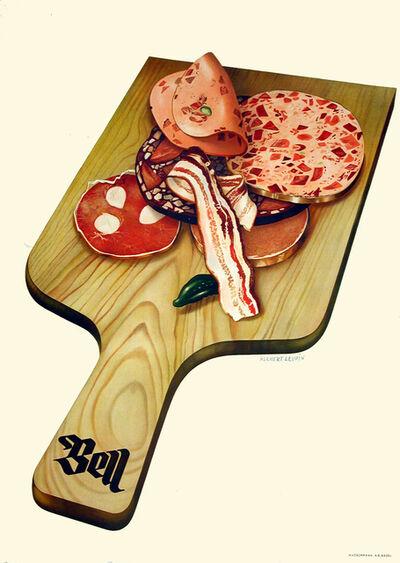Herbert Leupin, 'Bell - Charcuterie Board - Kitchen - Meat', 1939
