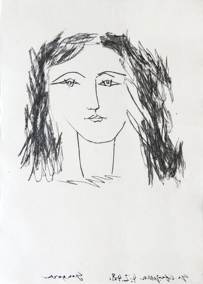 Pablo Picasso, 'Head of a Woman with Dishevelled Hair', 1948