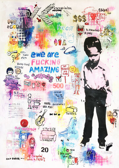 Little Ricky, 'Dream Project #9, acrylic, spray paint, graphite, mixed media on canvas ', 2018