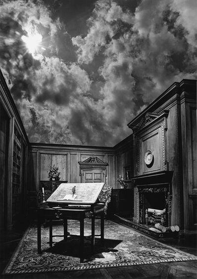 Jerry Uelsmann, 'Untitled (philosopher's desk)', 1976