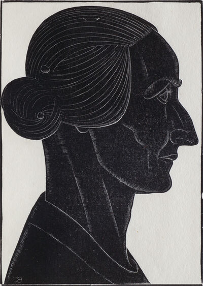 Eric Gill, 'Portrait of Mrs Williams of Ditchling', 1924