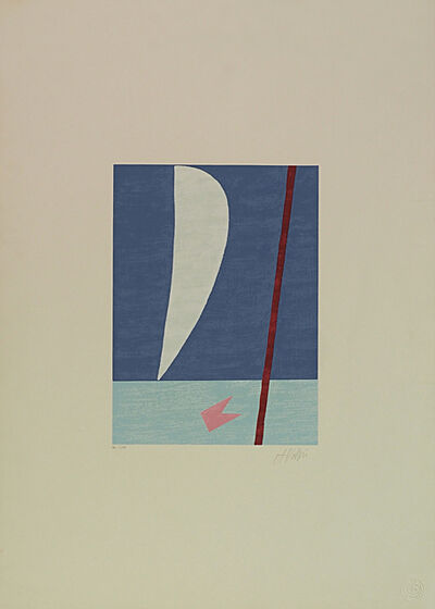 Alfredo Volpi, 'Mast and sail I', 1970-1990
