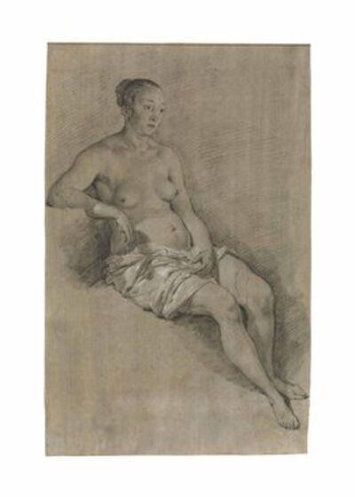 Adriaen van de Velde, 'A seated female nude'