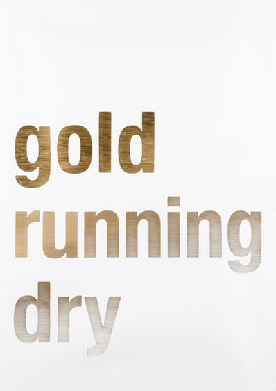 "João Onofre, 'Untitled (""Gold Running Dry""), 2007'"