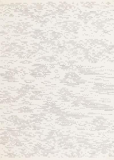Dadamaino, 'Lettera 15 dell'alfabeto della mente', 1980