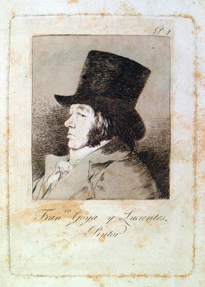 Francisco de Goya, 'Francisco Goya y Lucientes, Pintor', 1799