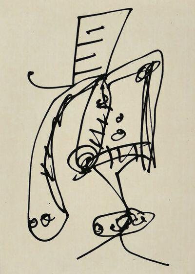 Antonio Saura, 'Frauen portrait mit Hut 2', 1990