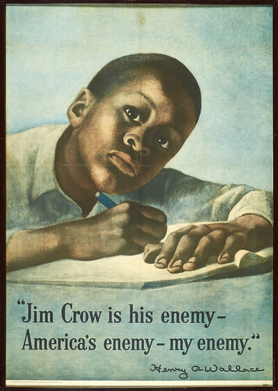 Symeon Shimin, 'Jim Crow is His Enemy', 1948