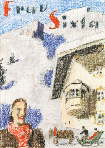 Alfons Walde, 'Tobogganing in Winter', ca. 1925