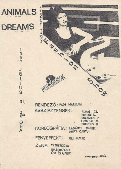 Csaba Jonathan Almási, 'Poster for Tamás Király's fashion show ', 1987