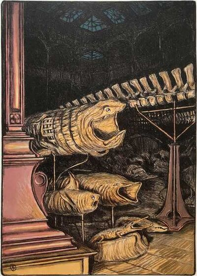 Jürg Kreienbühl, 'Grande galerie avec requins', 1984